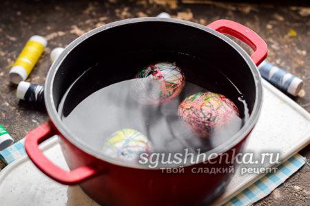 перевязать яйца нитками