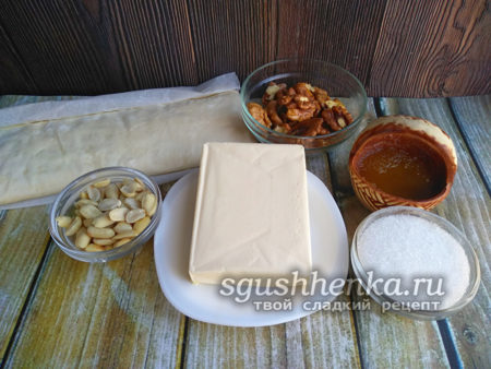 ингредиенты для медовой пахлавы