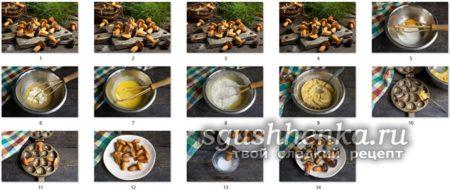 мастер класс приготовления печенья Грибочки