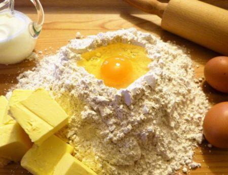яйцо мука