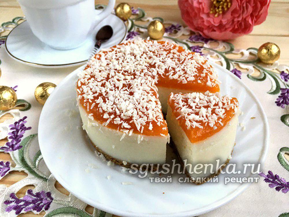 творожное суфле с желатином для торта