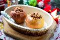 запечённые яблоки в духовке с мёдом и орехами