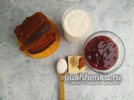 ингредиенты для десерта к чаю