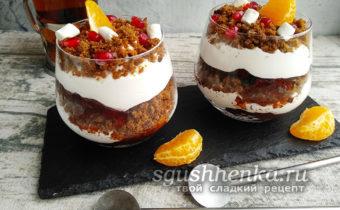 Десерт из ржаного хлеба рига латвия со сливками к чаю