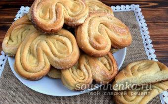 Плюшки домашние сладкие с сахаром