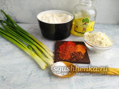 ингредиенты для китайских блинчиков