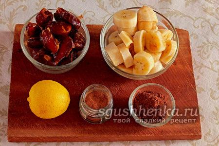 ингредиенты для финиковой пасты