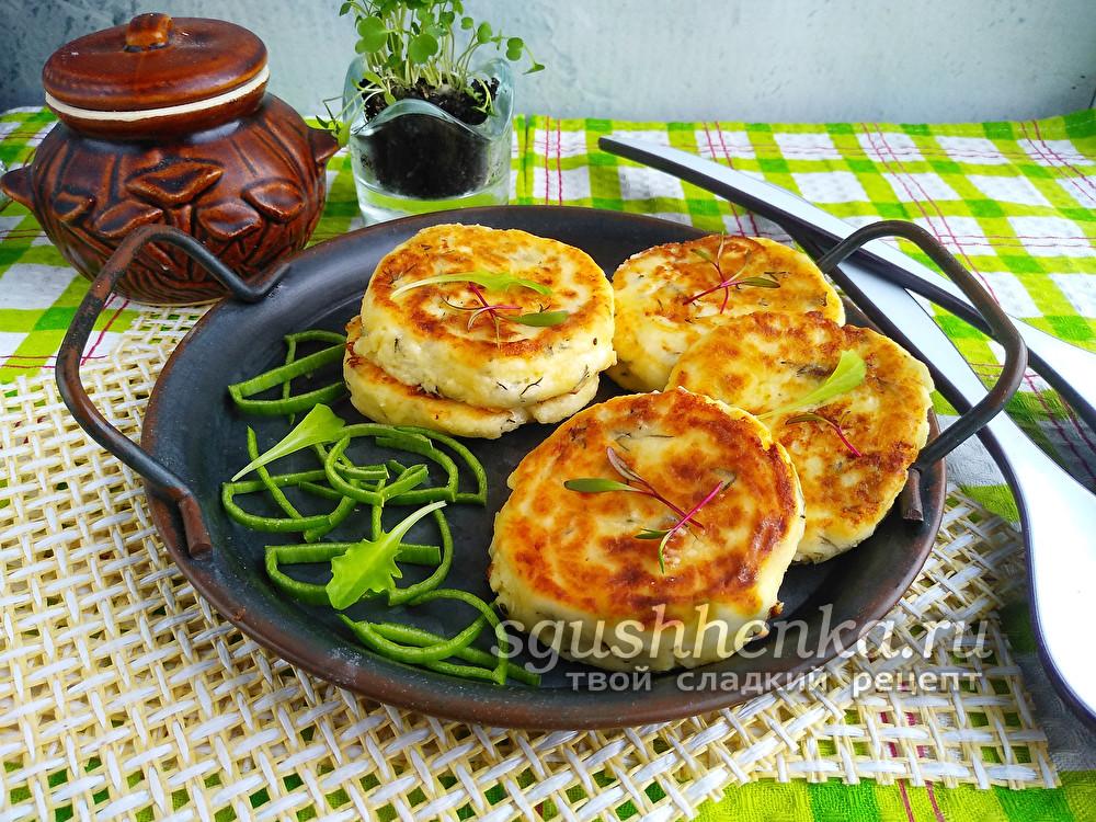сырники из брынзы соленой с творогом