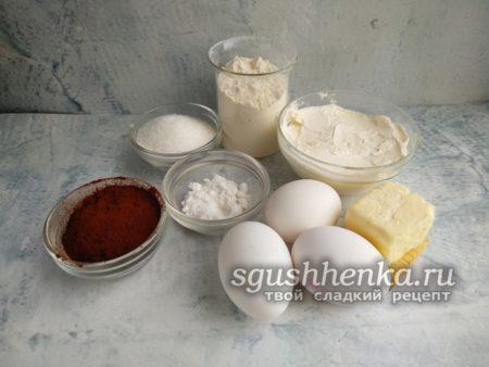 ингредиенты для пироженого